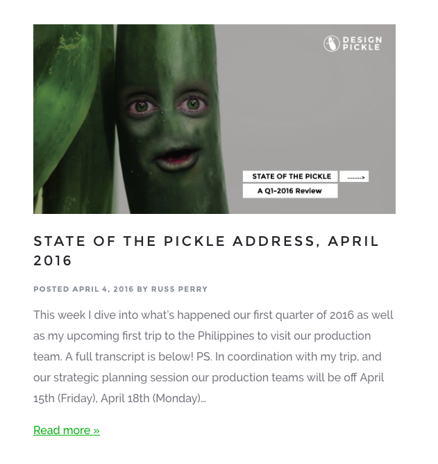 Design Pickle Post 2